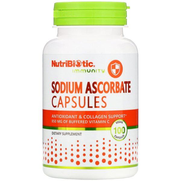 NutriBiotic Sodium Ascorbate 850mg (100VegCaps)