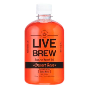 "Live Brew Комбуча Живой Чай "" Desert Rose ' Yerba Mate (520мл пластик)"