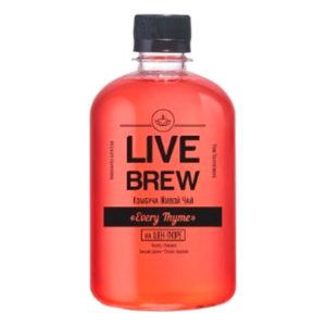 "Live Brew Комбуча Живой Чай "" Every Thyme' на Шен-Пуэре (520мл пластик)"