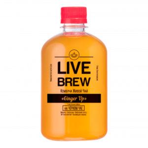 "Live Brew Комбуча Живой Чай "" Ginger Up' на Черном чае (520мл пластик)"