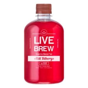 """Live Brew Комбуча Живой Чай """" Kill Bilberry' на Пуэре (520мл пластик)"""
