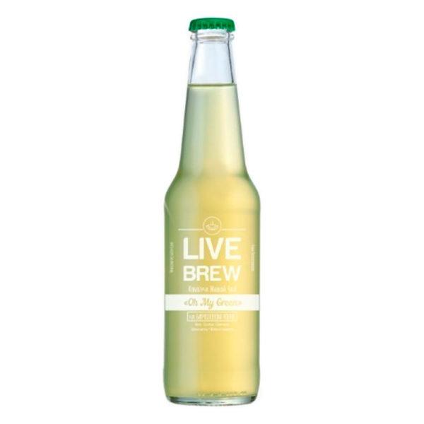 "Live Brew Комбуча Живой Чай ""Oh My Green"" на бирюзовом улуне (350мл стекло)"