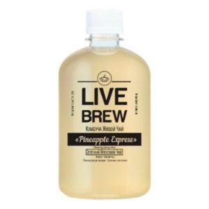 "Live Brew Комбуча Живой Чай "" Pineapple Express' Зеленый Японский Чай (520мл пластик)"