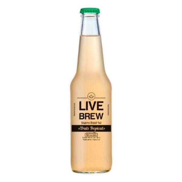 """Live Brew Комбуча Живой Чай """"Urals Tropical """" Matcha Green (350мл стекло)"""