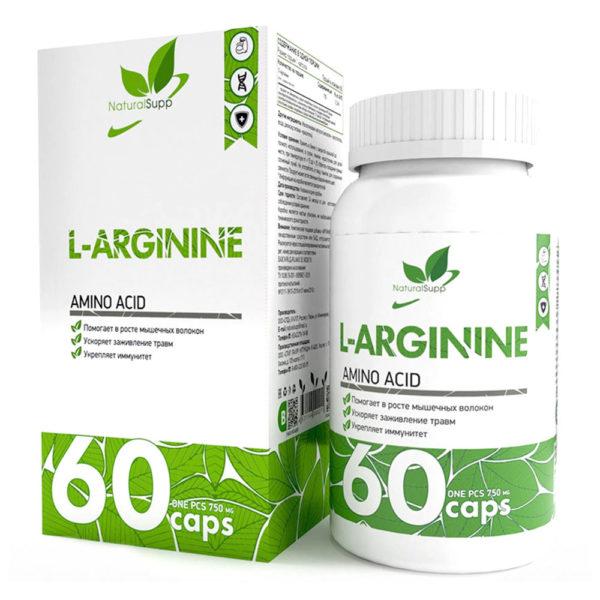 Natural Supp L-ARGININE (60caps)