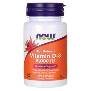 NOW Vitamin d-3 5,000iu (120sgels.)