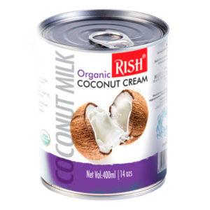 Organic RISH органические кокосовые сливки 20-22% жирности 400мл