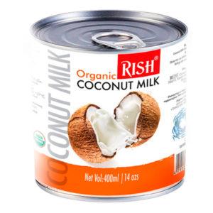 Organic RISH органическое кокосовое молоко 17-19% жирности 400мл