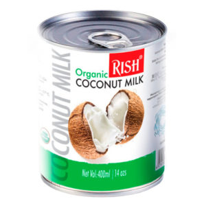 Organic RISH органическое кокосовое молоко Лайт 5-7% жирности 400мл