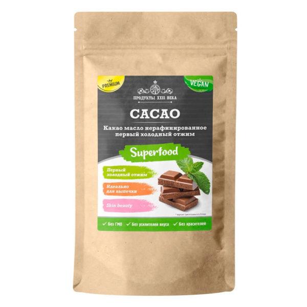 Продукты XXII века Какао-масло нерафинированное