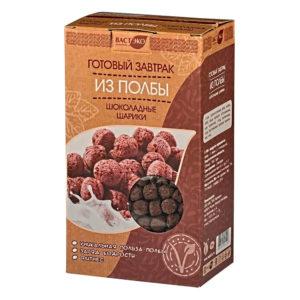 """ВАСТ ЭКО Готовый завтрак из полбы """"Шоколадные шарики"""""""