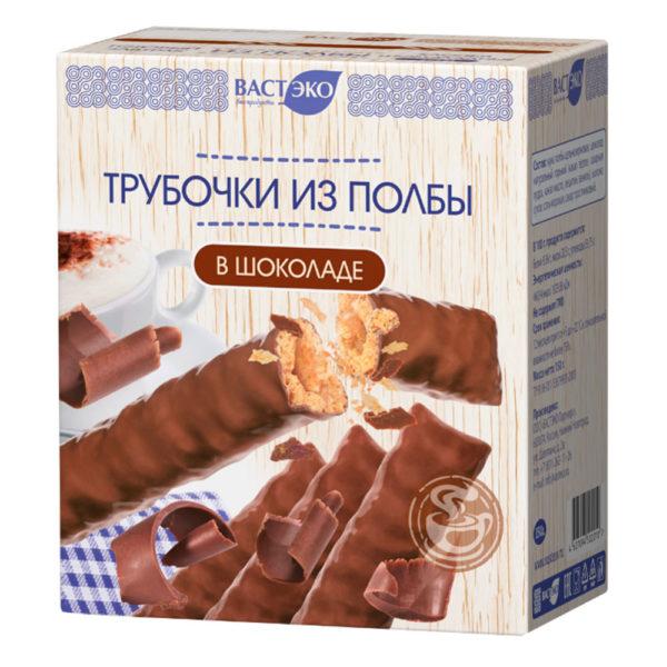 ВАСТ ЭКО Трубочки из полбы в шоколаде